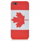 Canada Flag Pattern Protective Plastic Back Case for Iphone 5 - Red + White