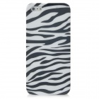 Zebra-Stripe Pattern Protective Plastic Back Case for Iphone 5 - Black + White
