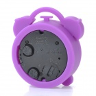 WL006 Cute Mini Round Shaped Alarm Clock - Purple (1 x LR44)