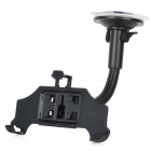 270-Degree Rotation Suction Cup Car Mount Holder for Iphone 5 - Black