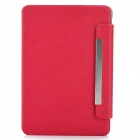 Lychee Pattern Protective 360 Degree Rotating Swivel PU Leather Case for Ipad MINI - Red