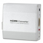 HDMI to VGA + SPDIF / AUDIO High Definition Converter for Projector - Silver