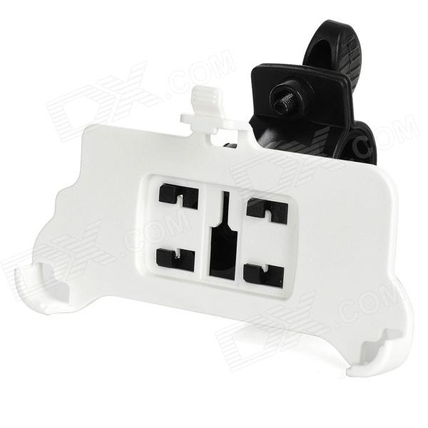 Swivel Bike Handlebar Mount Holder for Iphone 5 - White + Black
