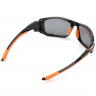 CARSHIRO LX-1277 Sports Riding UV400 Protection Resin Lens Polarized Sunglasses - Black + Orange