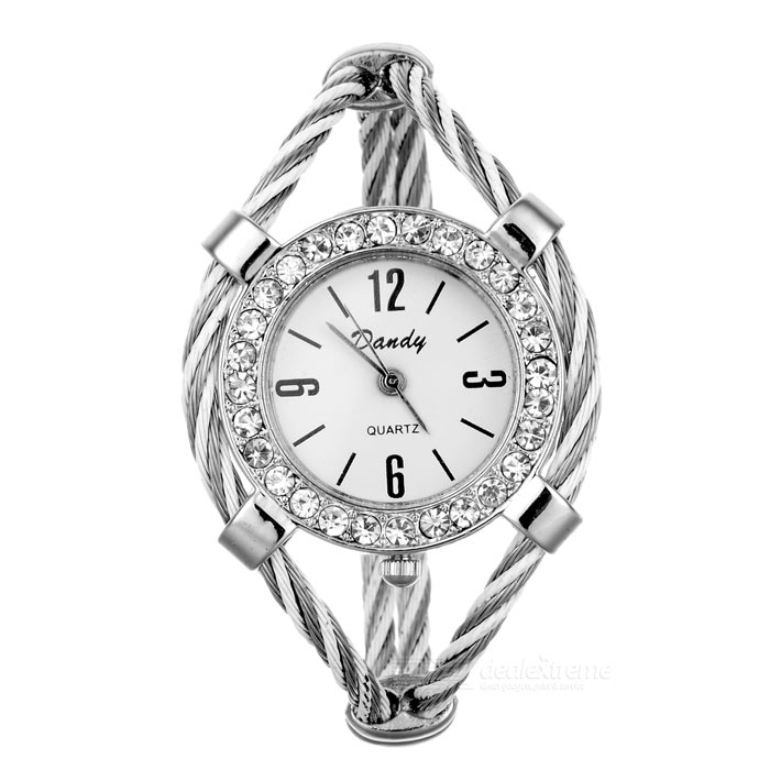Stylish Crystals Bracelet Lady's Quartz Watch