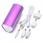 SWPKPOWER SW-B66920 Portable 7800mAh External Battery w/ 5 Adapters - Purple