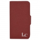 Genuine Leather Stylish Protective Case for Iphone 5 - Red