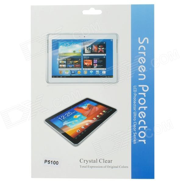 Protective Clear Screen Protector Film Guard for Samsung Galaxy Tab 2 P5100 - Transparent (3 PCS) enkay clear hd screen protector protective film guard for samsung galaxy tab 3 7 0 t210
