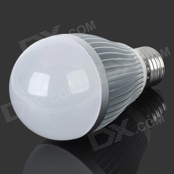 E5-Lighting E27 8W A19 700lm 3500K 21-LED Warm White Light Bulb - Silver + White (AC 85~265V) 5pcs e27 led bulb 2w 4w 6w vintage cold white warm white edison lamp g45 led filament decorative bulb ac 220v 240v