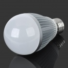 E5-Lighting E27 8W A19 700lm 3500K 21-LED Warm White Light Bulb - Silver + White (AC 85~265V)