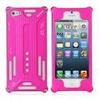 Transformers Style Aluminum Alloy Protective Back Case for iPhone 5 - Carmine