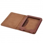 Lichee Pattern Sleep Protective PU Leather Case for Kindle Paperwhite - Brown