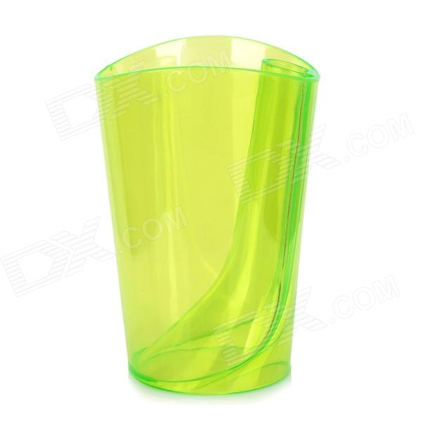JD-118 Creative 2-in-1 ABS Anti-scale Toothbrush Cup & Holder - Transparent Green (330ml)