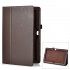 Protective Genuine Leather Case Stand for Microsoft Surface RT - Brown