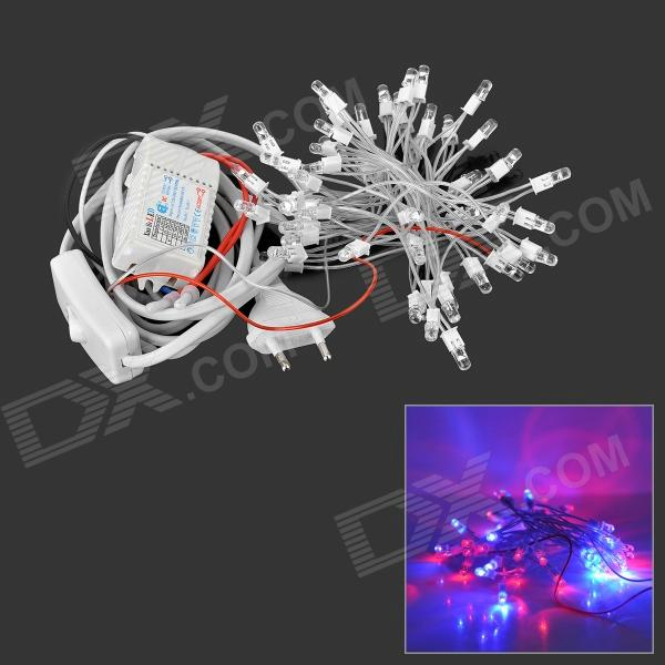 37.5W 50-LED 300lm da luz vermelha / azul decorativa LED Cordas Light - (5M) Branco