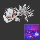 37.5W 50-LED 300lm Red/Blue Light Decorative LED String Light - White (5M)
