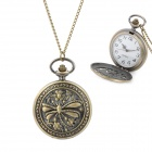 41010040 Retro Hollow-Out Dragonfly Pattern Analog Waterproof Pocket Watch - Bronze