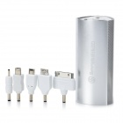 SWPKPOWER SW-B66920 Portable 7800mAh External Battery w/ 5 Adapters - Silver
