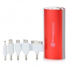 SWPKPOWER SW-B66920 Portable 7800mAh External Battery w/ 5 Adapters - Red