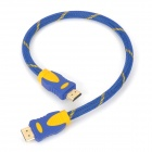 HDMI Male to Male Connection Cable - Blue + Golden (40cm)