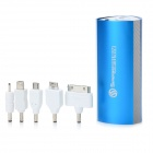 SWPKPOWER SW-B66920 Portable 7800mAh External Battery w/ 5 Adapters - Blue