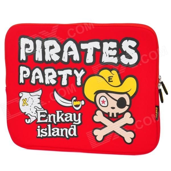 ENKAY ENK-2101 Pirate Pattern Soft EVA Sleeve Bag w/ Dual-Zipper for 14