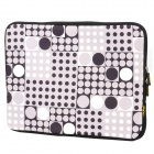 "ENKAY ENK-2001 Polka Dot Pattern Neoprene Sleeve Bag for 14"" / 14.1"" / 14.4"" Laptop - Black"