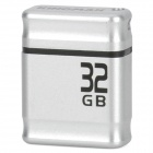 Genuine KINGMAX PI-01 USB 2.0 Flash Drive w/ Strap - Silver + Black (32GB)