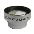 A-8006 Detachable 2X Microscope Lens Set for iPhone 4 / 4S / 5 / Mobile Phones - Silver