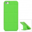 Protective Metal Case w/ PU Magnetic Stand for Iphone 5 - Green