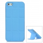 Protective Metal Case w/ PU Magnetic Stand for iPhone 5 - Blue