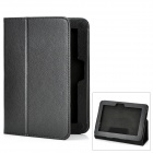 Lichee Pattern Protective PU Leather Case for Amazon Kindle Fire HD - Black