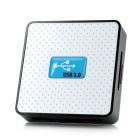 U30CR Super Speed USB 3.0 6-in-1 SD / TF / CF / XD / MS / M2 Card Reader - White + Black + Blue