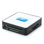 U30CR Super Speed ​​USB 3.0 6-в-1 SD / TF / CF / XD / MS / M2 Card Reader - белый + черный + синий
