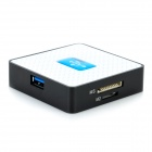U30CR Super Speed ​​USB 3.0 6-in-1 SD / TF / CF / XD / MS / lector de tarjetas M2 - Blanco + Negro + azul
