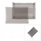 "Protective PC Upper + Back Cover Case for MacBook Air 13.3"" - Transparent Grey"