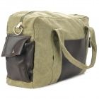 Stylish Waterproof Non-Fading Canvas Hand / Shoulder Bag - Army Green + Black