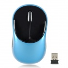 G-185 Wireless 2.4GHz 1000dpi Optical Mouse - Black + Blue (1 x AAA)