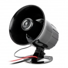 QC-L03 DIY Motorcycle Security 3-Tone Alarm Horn Speaker - Black (DC 12V / 12cm-Cable)