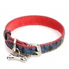PU Adjustable Pet Dog Collar Leash - Blue (Size S)