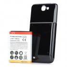 "Replacement ""6500mAh"" Li-ion Battery w/ Back Case for Samsung Note 2 / N7100 - Black"