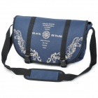 Fashion Pattern Casual Nylon Aslant Bag w/ Strap - Dark Blue