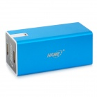 HAME HM-A16E Dual USB 11200mAh External Mobile Power Charger - Blue