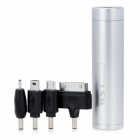 WST-Q9I Внешние 2800mAh Power Bank ж / адаптеры для iPhone / Nokia / Samsung - Silver