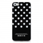 Dot Pattern LED Smart Glistening Protective Back Case for Iphone 5 - Black (1 x CR2016 battery)