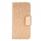 Stylish Protective PU Leather Case for Iphone 5 - Golden