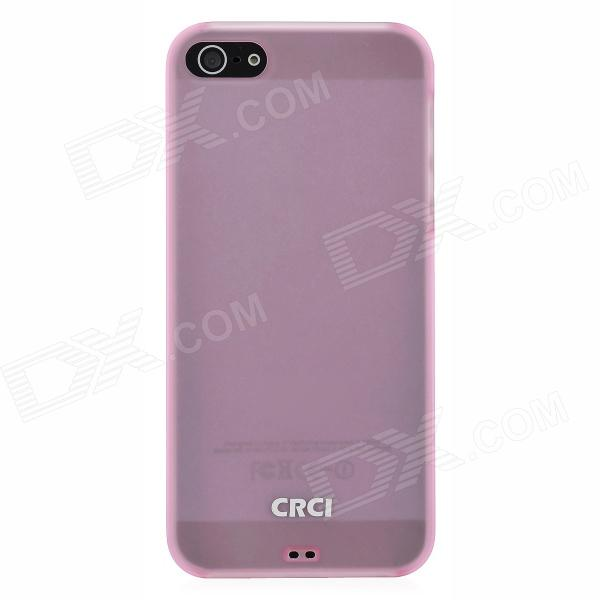 CRCI Silicone Protective Back Case w/ Stand Holder for Iphone 5 - Translucent Pink protective silicone case for nds lite translucent white