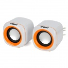 APOINT V1-A USB Power 6W Mini Speakers for Computer / Laptop - Orange + White (2 PCS)