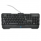 AULA Dragon Tooth USB 104-Key Blue Backlit Wired Gaming Keyboard w/ Hand Prop - Black
