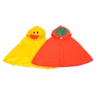 Cute Duck & Strawberry Shaped Soft Blended Cotton Warmer Cloaks for Baby - Yellow + Red (2 PCS)